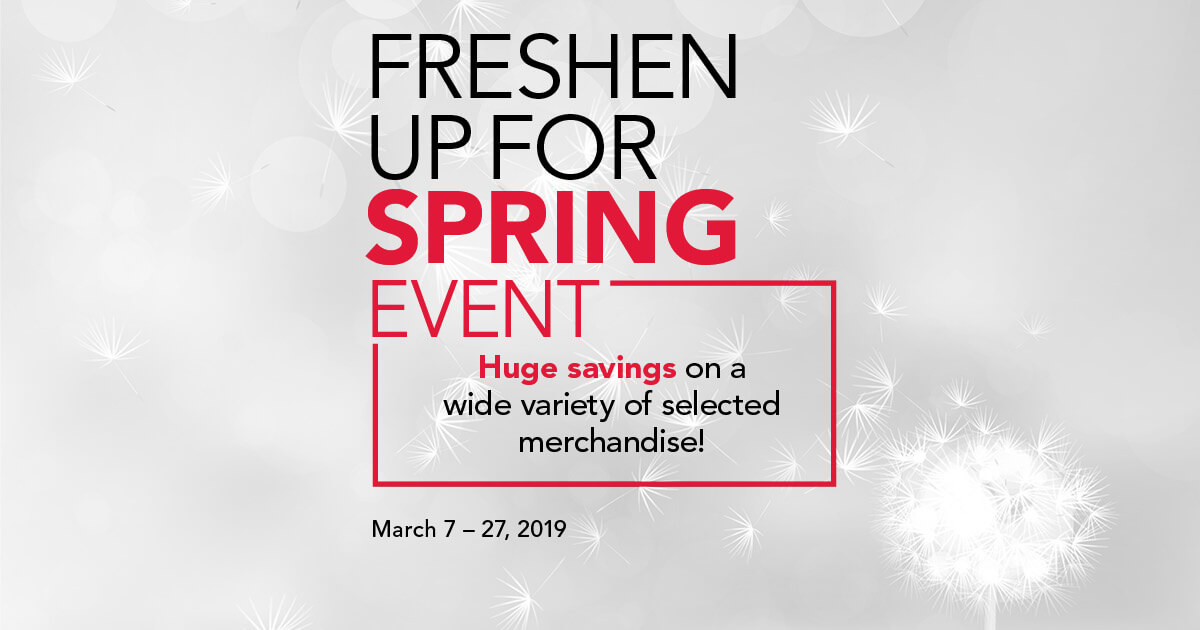 Freshen Up for Spring Event