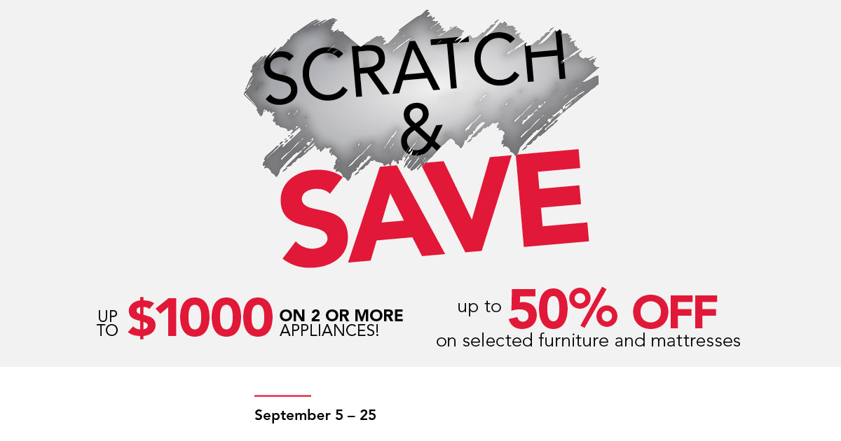 Scratch & Save Event