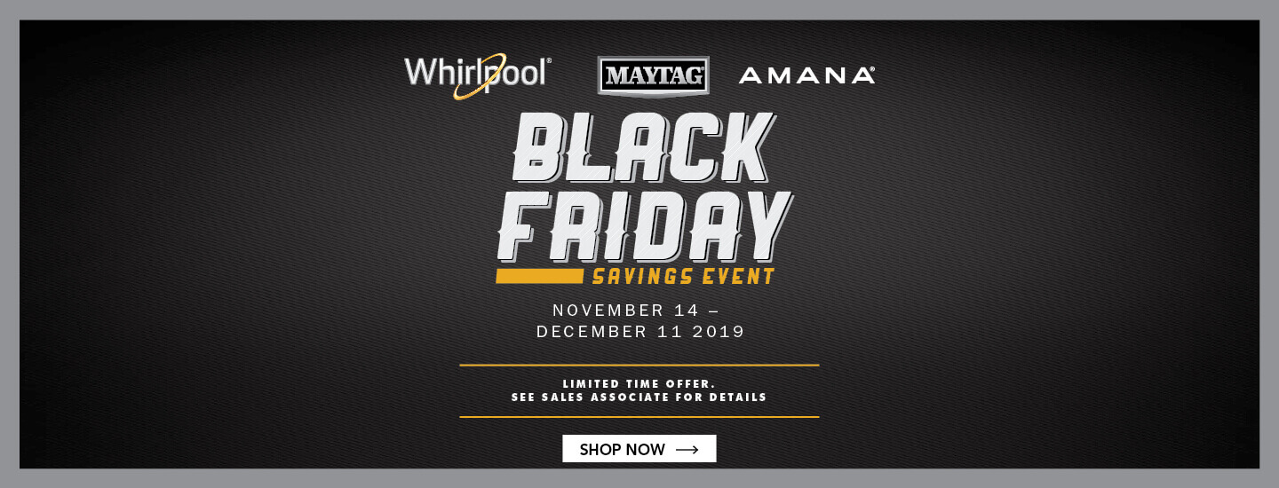 Whirlpool Maytag Amana Black Friday 2019