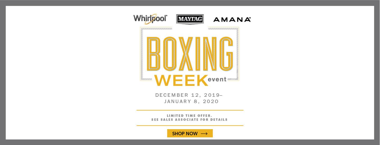 Whirlpool Maytag Amana Boxing Week 2019