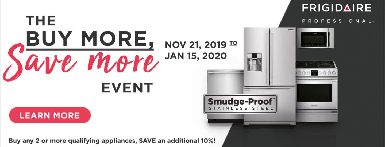 Frigidaire Professional Buy More Save More Nov 2019