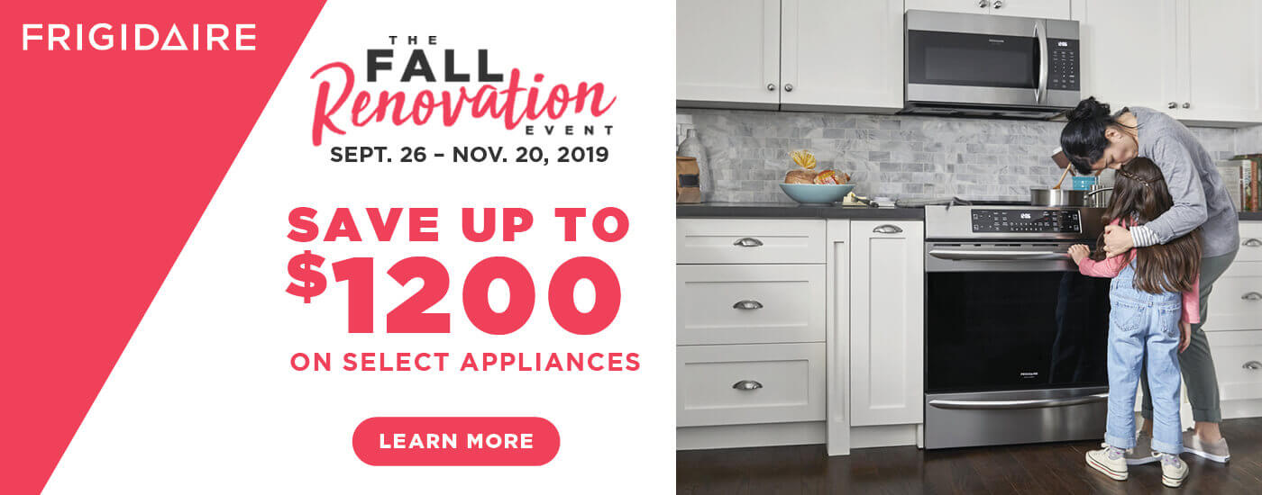 Frigidaire Fall Renovation Event