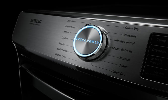Laveuses Maytag Bouton Extra Power